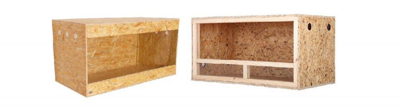 Dřevěné terárium z OSB desek